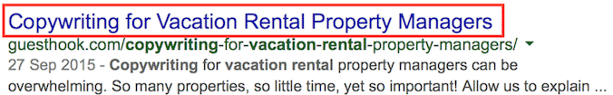 vacation rental seo